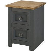 image-Corona Carbon 2 Drawer Bedside Grey and Brown
