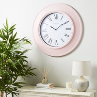 image-Grantham 76cm Station Wall Clock Blush Blush