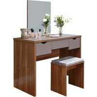 image-Elizabeth Dressing Table Set Walnut (Brown)