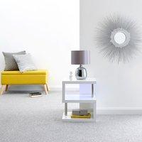 image-Polar LED Side Table White