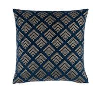 image-Velvet Geo Foil Navy Cushion Cover Navy