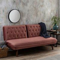 Elodie Velvet Sofa Bed Pink