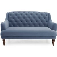Natalia Velvet 2 Seater Sofa Blue