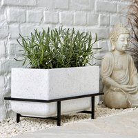 Elements White Fibre Clay Trough on Stand White