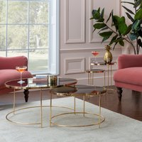 image-Ritz Black Set of 2 Coffee Tables Black