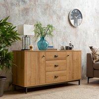 image-Fulton Oak Effect Large Sideboard Brown
