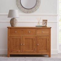 Bromley Oak Large Sideboard Brown