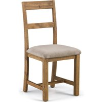 Aspen Set of 2 Dining Chairs Mink Chenille Pine