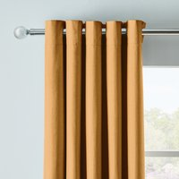 Arizona Mustard Blackout Eyelet Curtains Yellow