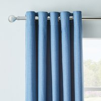 Arizona Chambray Blackout Eyelet Curtains Blue
