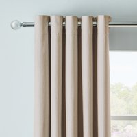 Arizona Linen Blackout Eyelet Curtains Beige