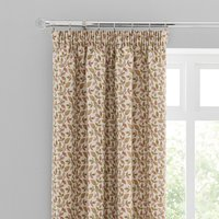 Dianna Green Pencil Pleat Curtains Cream, Green and Pink