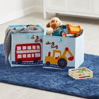 image-Transport Twin Pack Storage Boxes MultiColoured