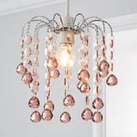 image-Amie Jewel Blush Easy Fit Pendant Pink and Silver