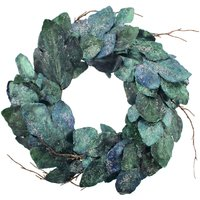 Fig Blue and Green Wreath Blue