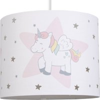 image-Unicorn Dreams Drum Light Shade Pink, Blue and Yellow