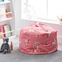 Unicorn Pink Bean Bag Pink, White and Orange