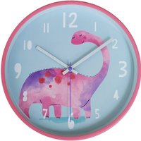 Pink Dinosaur Clock Pink and Blue
