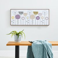 image-Dandelion Embellished Boxed Canvas MultiColoured