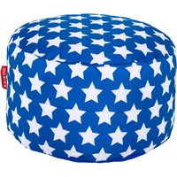Blue Stars Footstool Blue and White