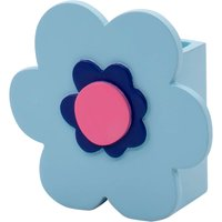 image-Blue Flower Toothbrush Holder Blue and Pink
