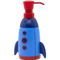 image-Space Rocket Soap Dispenser Blue and Red
