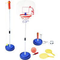 3 in 1 Swing Tennis, Basketball & Football Outdoor Game Multi-Coloured