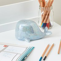 Whale Money Box Blue and Pink
