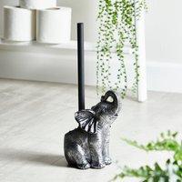 image-Elephant Toilet Brush Silver