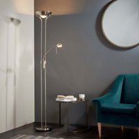 Endon Rome Father And Child Floor Lamp Satin Nickel Chrome