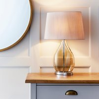 Endon Kew Smoked Table Lamp Gold