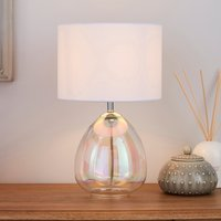 image-Bev Iridescent Glass Table Lamp Clear