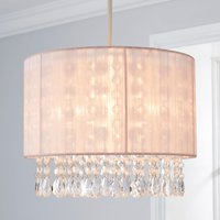 image-Riah Jewel Shade Pink Easy Fit Pendant Pink