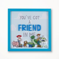 Disney Toy Story Framed Wall Art Blue, Green and Pink