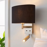 image-Reader Shaded Black Wall Light Black