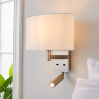 image-Reader Shaded Ivory Wall Light Ivory