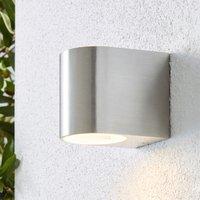 image-Tam Down Lighter Steel Outdoor Wall Light Silver