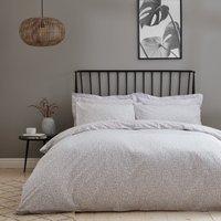 Elements Oblik 100% Cotton Duvet Cover and Pillowcase Set Natural