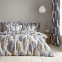 Elements Enya Reversible 100% Cotton Duvet Cover and Pillowcase Set White and Natural