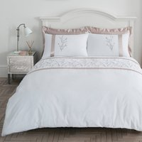 Nancy Pink Embroidered Duvet Cover and Pillowcase Set Pink