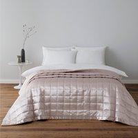 image-Nancy Pink Satin Quilted Bedspread Pink