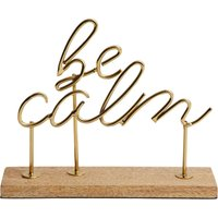 image-Be Calm Word Ornament Gold