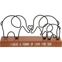 image-Wire Elephant Love Ornament Brown and Black