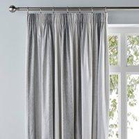 Wide Stripe Grey Pencil Pleat Curtains Grey