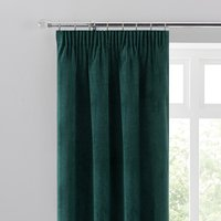 Margot Jade Matt Velour Pencil Pleat Curtains Green