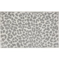 image-5A Fifth Avenue Broadway Silver Leopard Print Bath Mat Silver