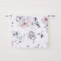 Heavenly Hummingbird Floral Blush Hand Towel Pink