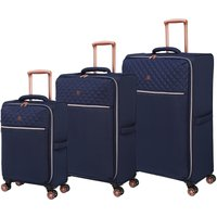 IT Luggage Divinity Navy Quilted Suitcase Navy