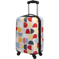 Sten 4 Wheel Multi Coloured Cabin Case White, Red and Blue