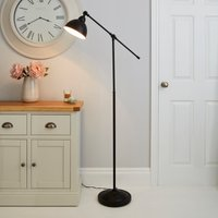 Lever Arm Black Floor Lamp Black